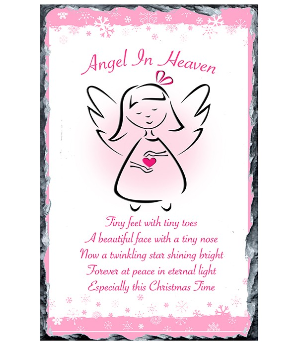 Pink Angel Heart Slate