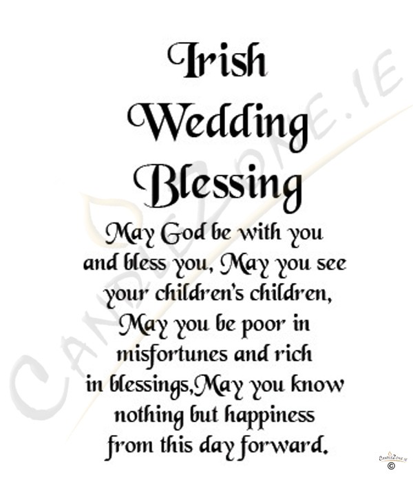Irish Wedding Quotes: Irish Blessing, Flowers & Verse & Photo