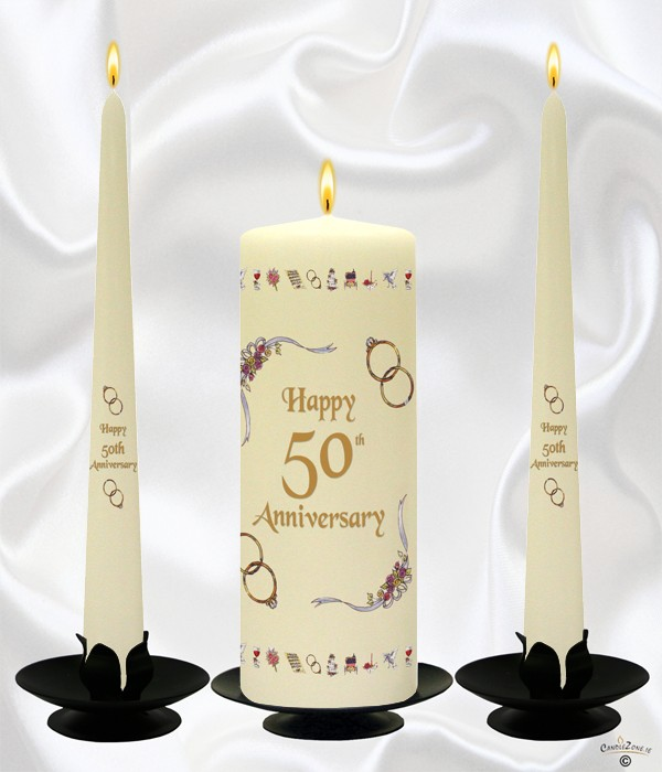 Candles For 50th Wedding Anniversary