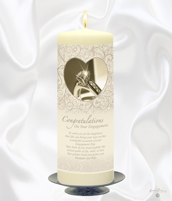 Engagement Love Heart Candle