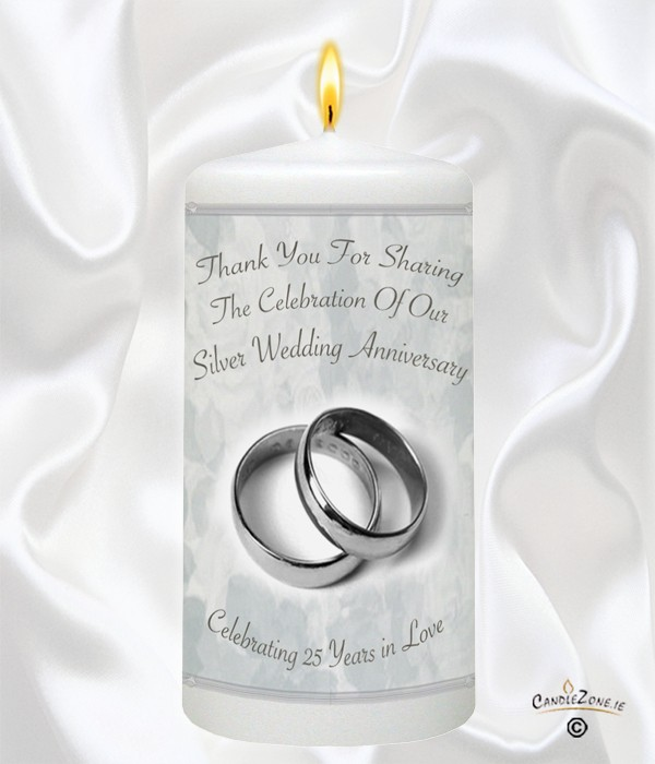25th Wedding Anniversary Favour   Silver Rings