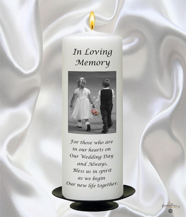 Young Love Black Script Wedding Remembrance Candle