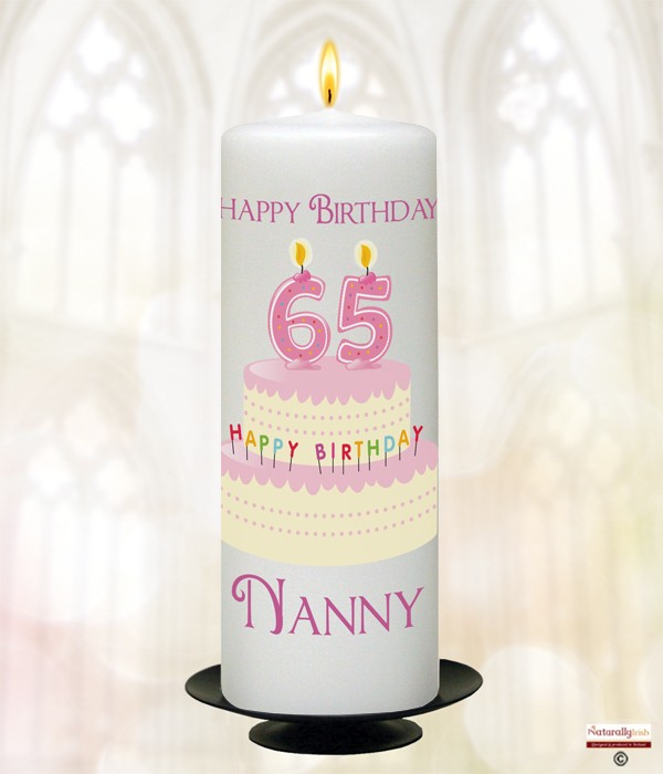 Any Age Pink Birthday Cake Candle