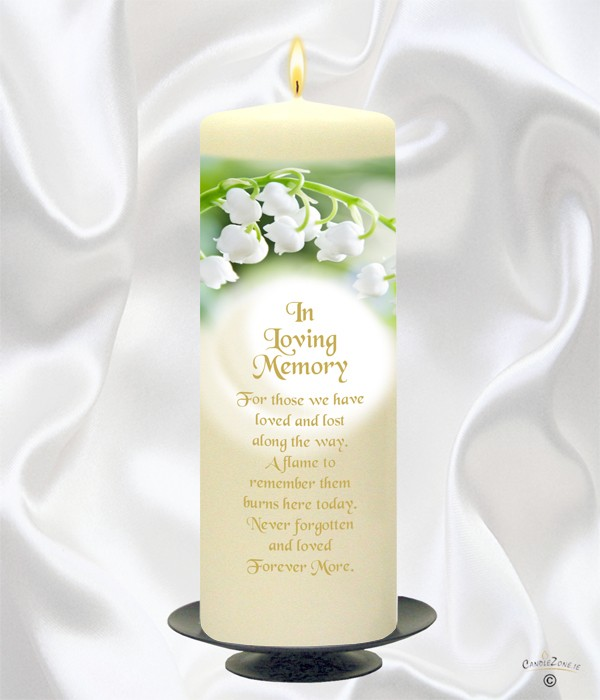 candlezone ie lily of the valley gold script wedding remembrance