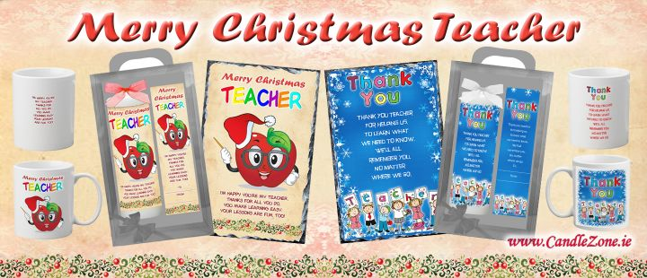 Teacher Merry Christmas Candles Slate Mugs