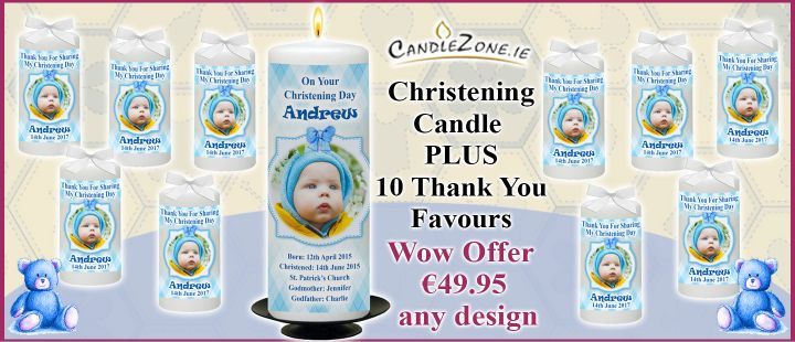 Christening Boy WOW Offer with 10 Thank you Favours
