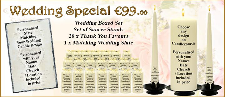 Wedding Candle Any Design Special Package - Only e99