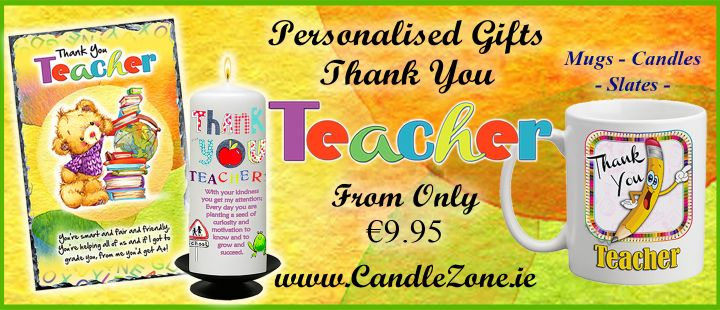 Persoanlised Thank Your Teacher Gifts - from only e9.95