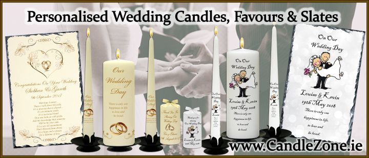 Wedding Candles, Thank you Favours and Slates