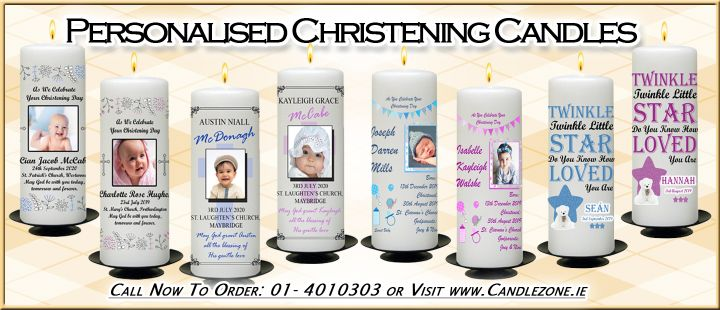 Personalised Christening Candles and Slates