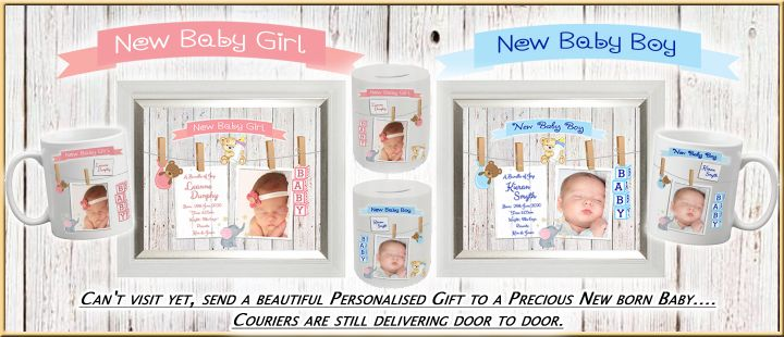 Send a beautiful Personalised Gift to a Precious New born Baby.... Couriers are still delivering doo